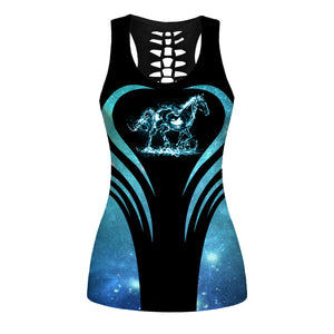 Woman Horse Tank Top And Legging Version 35