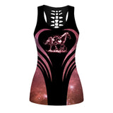 Woman Horse Tank Top And Legging Version 36