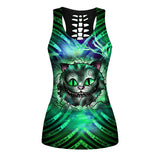 Woman Cat Tank Top And Legging Version 09
