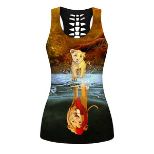 Lion Tank Top And Legging Version 09