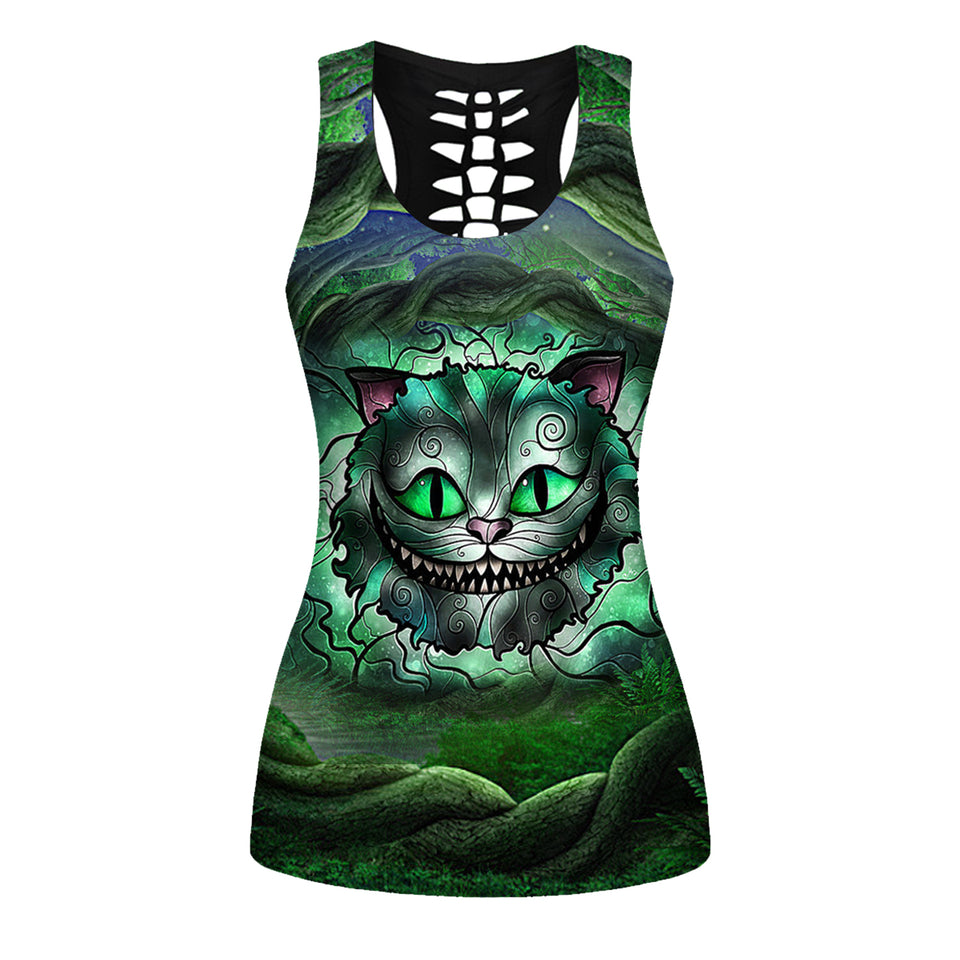 Woman Cat Tank Top And Legging Version 15