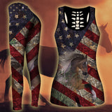 Woman Horse Tank Top And Legging Version 01