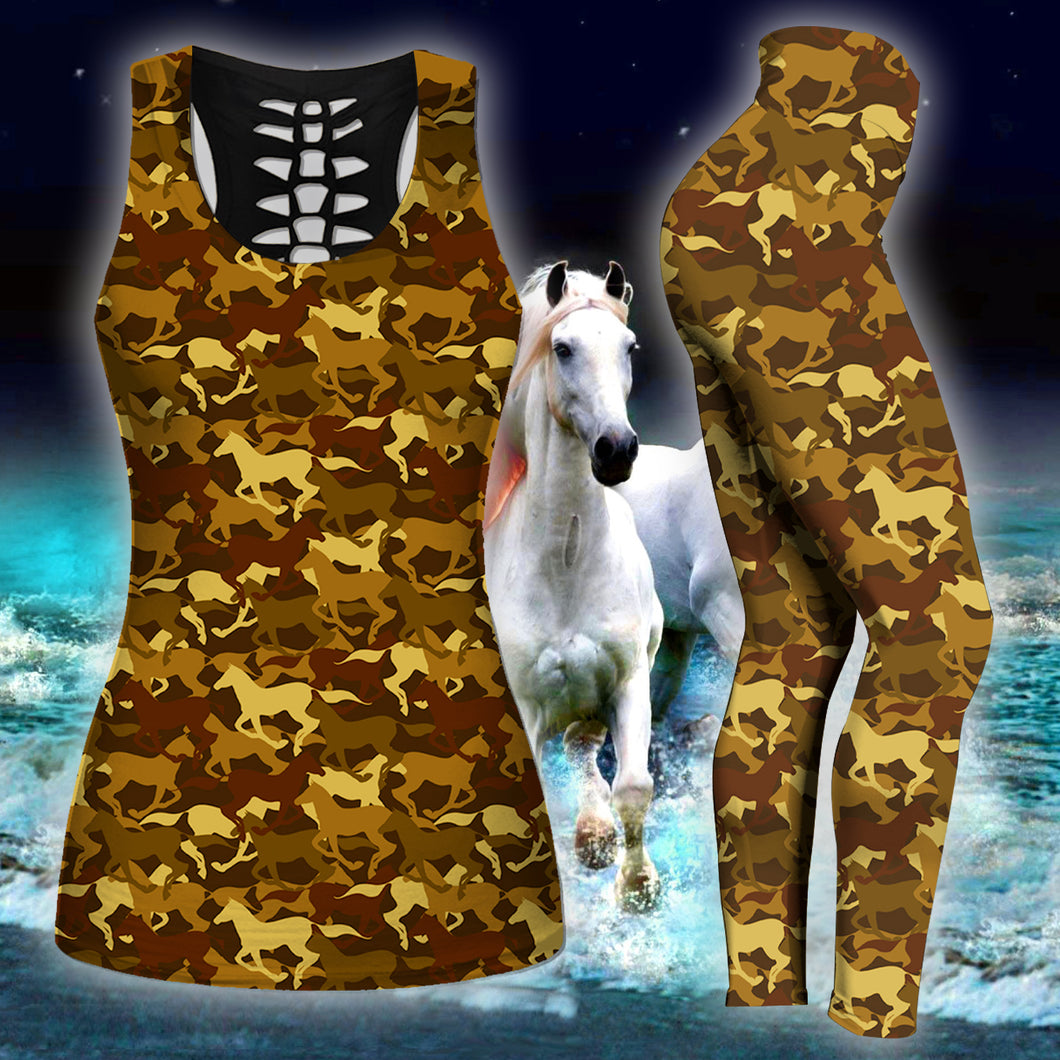 Woman Horse Tank Top And Legging Version 04