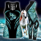 Woman Horse Tank Top And Legging Version 11