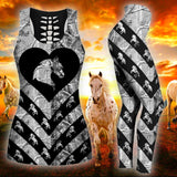 Woman Horse Tank Top And Legging Version 14