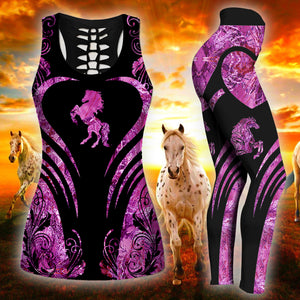 Woman Horse Tank Top And Legging Version 17