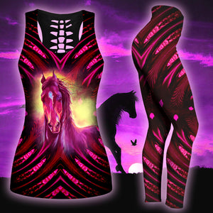 Woman Horse Tank Top And Legging Version 20