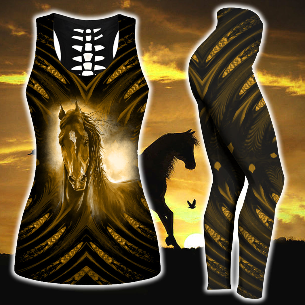 Woman Horse Tank Top And Legging Version 21