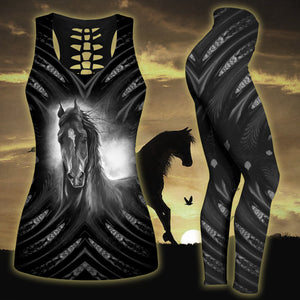 Woman Horse Tank Top And Legging Version 22