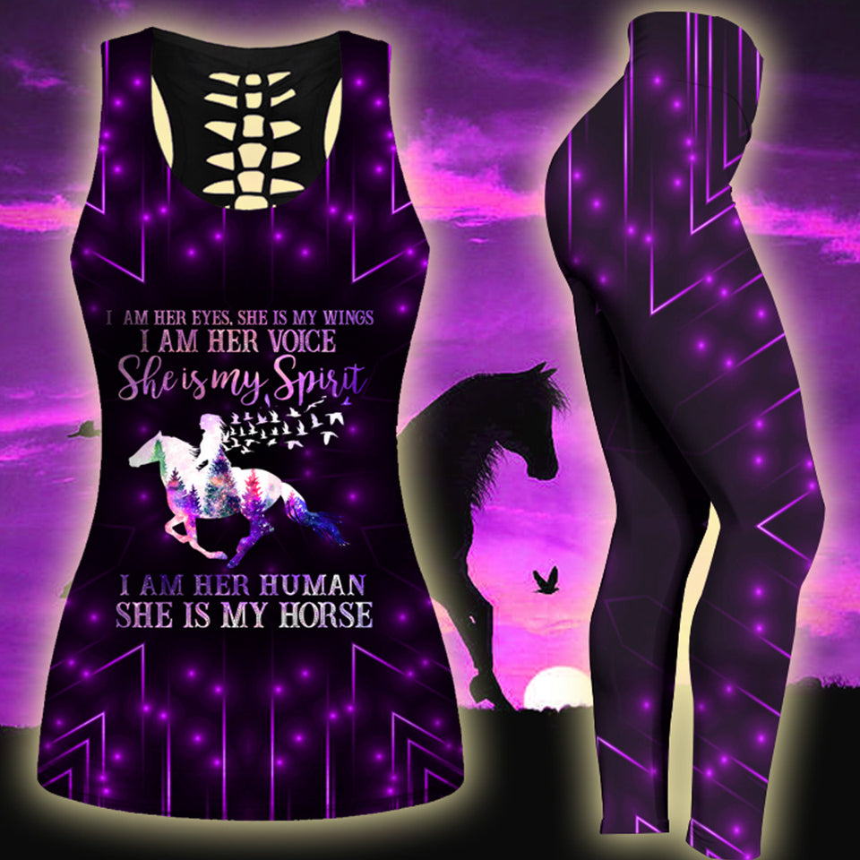 Woman Horse Tank Top And Legging Version 24