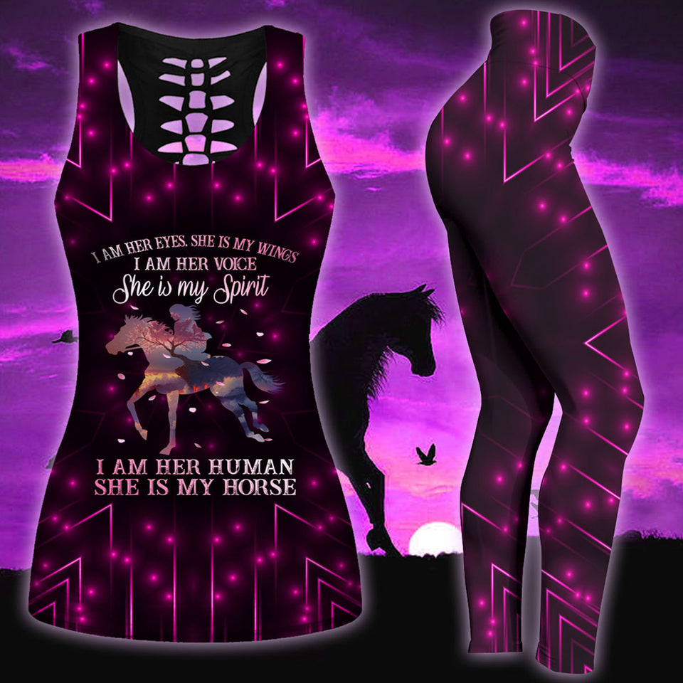 Woman Horse Tank Top And Legging Version 25