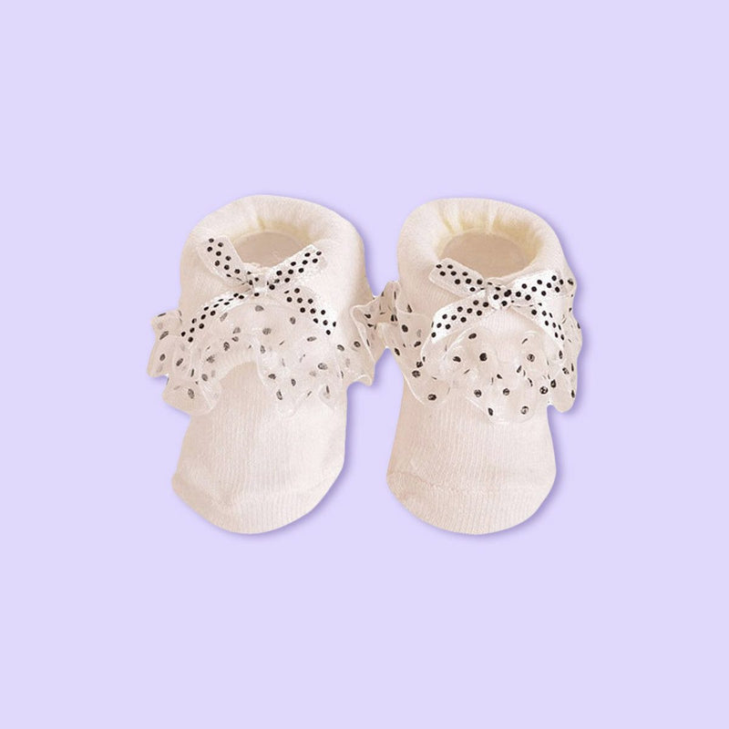 Princess Bowknots Socks- White