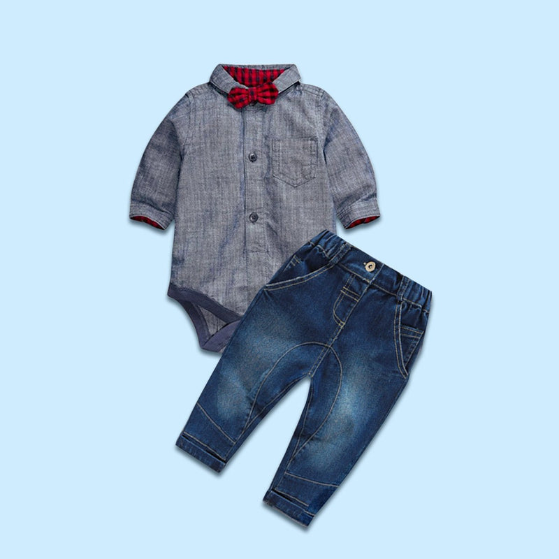 Dapper Dude Chambray Set