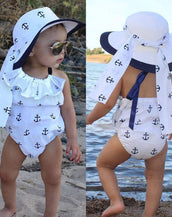 Anchor Ruffles Romper Set