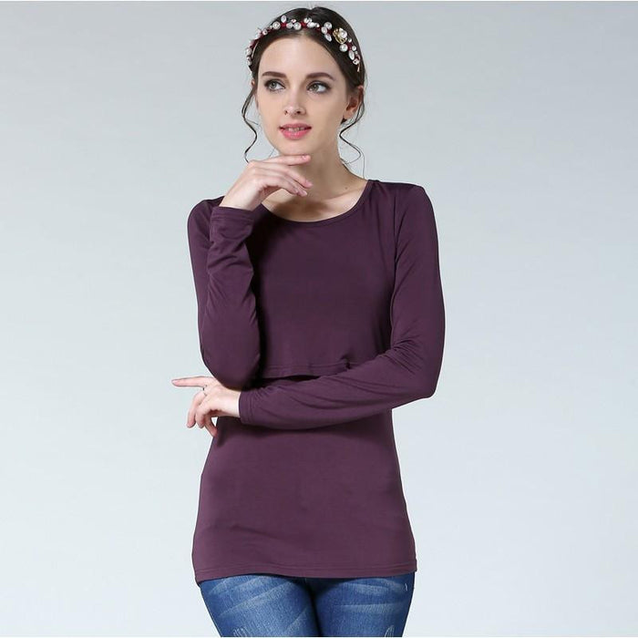Dabzee Maternity Top- Plum