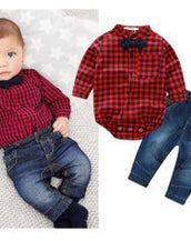 Mommy's Lil' Hottie -Red Plaid Clothing Set