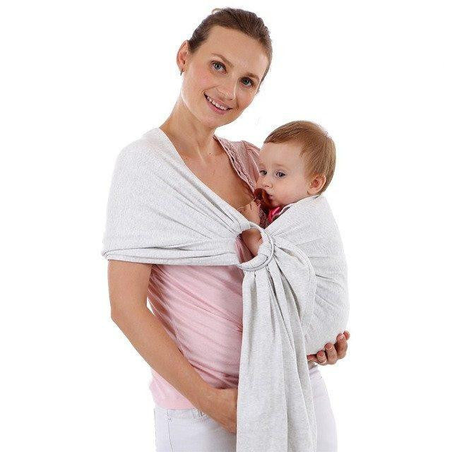 Love Bug Baby Sling- Light Gray
