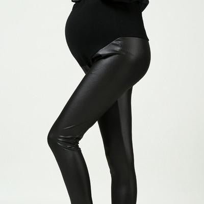 Maternity Leather Fashion Pant