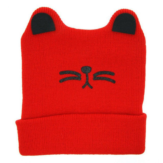 Purdy Skully Beanie- Red