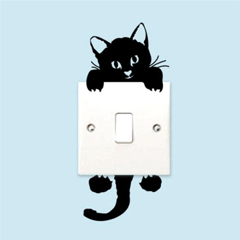 Peek-a-Boo Cat Light Switch Decal