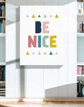 Modern Letter Motivational Quote Wooden Framed Canvas Painting Kids Baby Room Decor Nursery Wall Art Print Picture Poster CP020