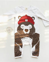 Beary Sleepy Baby Jumpsuit