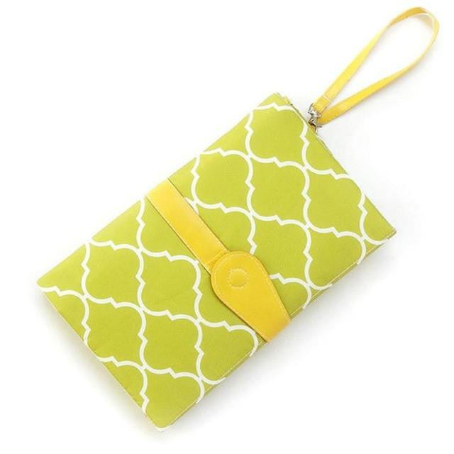 Mod Mom Diaper Changing Travel Clutch- Lime