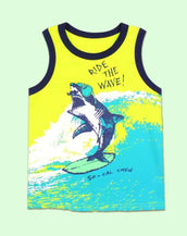 Surf's Up Baby Shark Tank Top