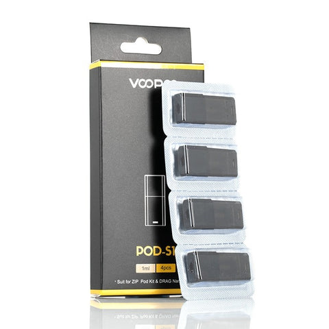 VooPoo Pod-S1 Alpha & Nano 1ML Refillable Replacement Pod - Pack Of 4