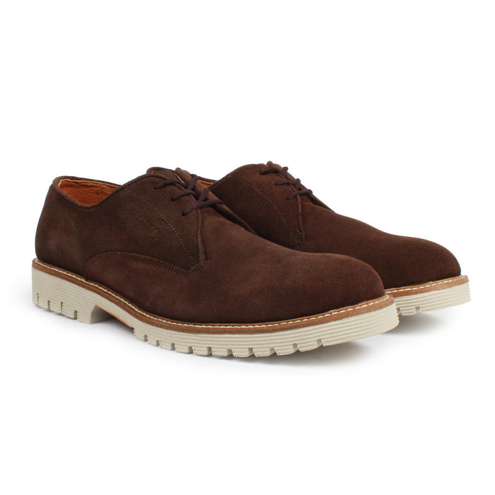 E-1402 | Lace-Up Brogue | Java Suede