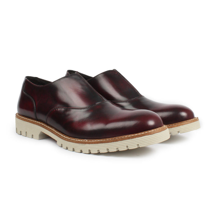 E-1406 | Slip-On Brogue | Iguana Wine