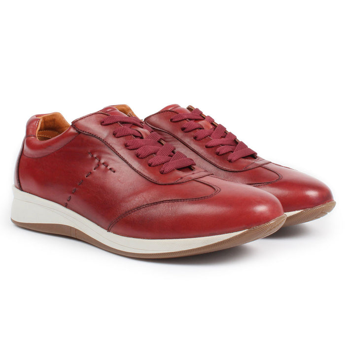E-1501 | Lace-Up Sneaker | Wine