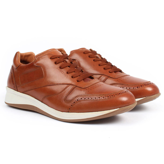 E-1505 | Lace-Up Sneaker | Tan