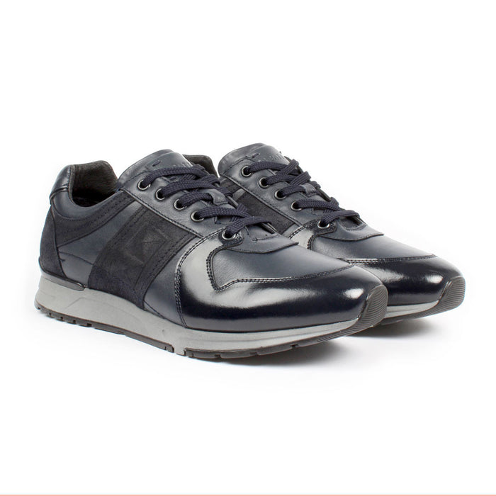 E-1608 | Lace-Up Sneaker | Navy Black