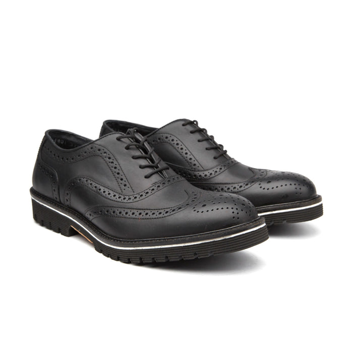 MEDALLION TOE CAP BROGUE | BLACK