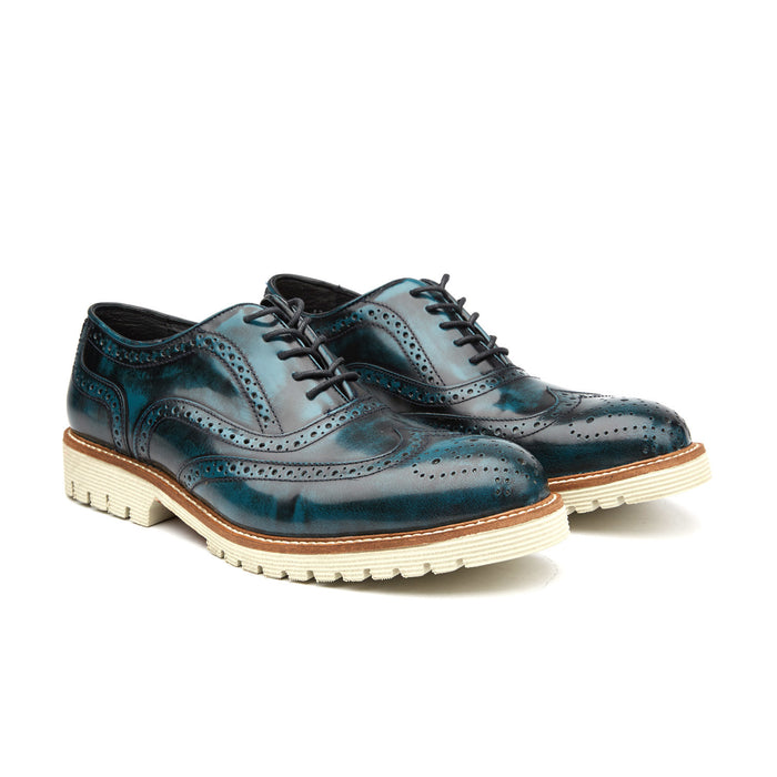 MEDALLION TOE CAP BROGUE | NAVY
