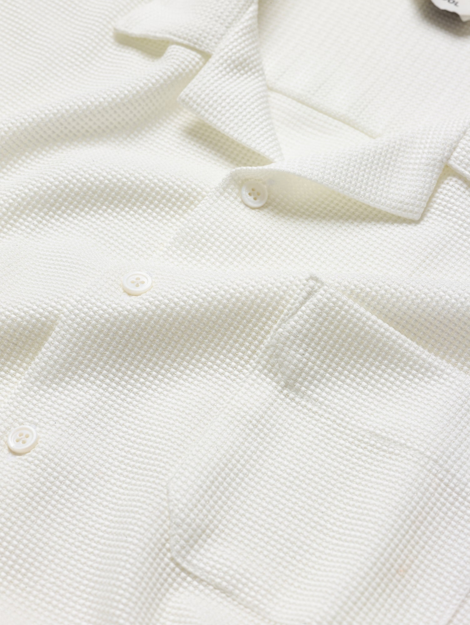 A Knit Lounge Shirt in Alpine White