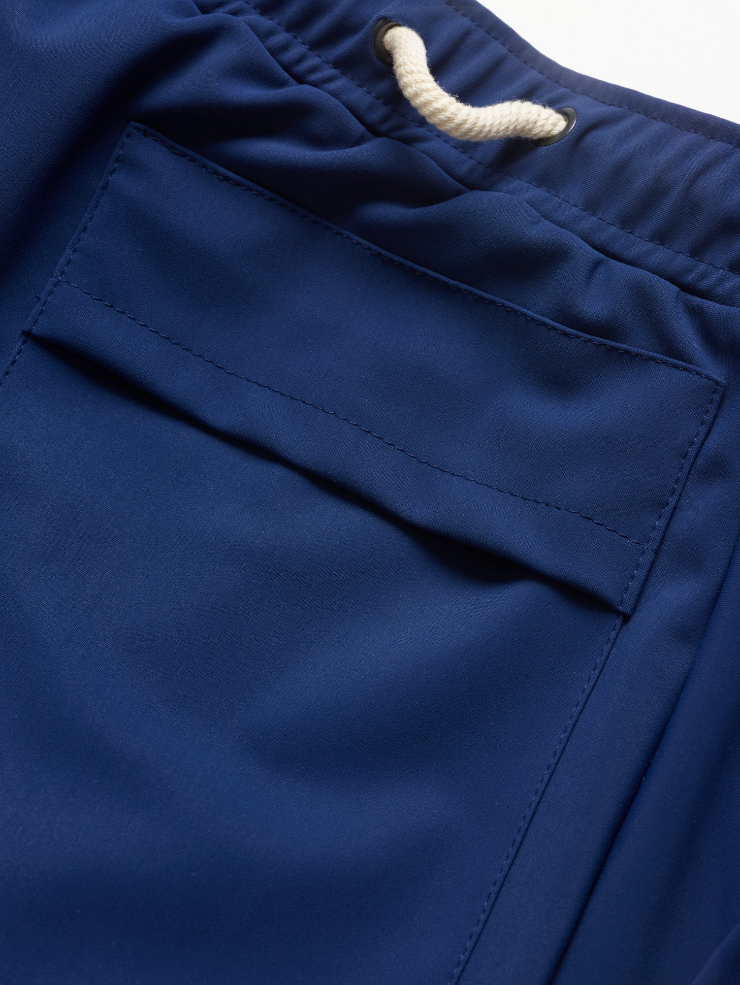 Pool Short in Molitor Blue