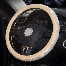 Luxury Diamond Crystal Car Accessories handbrake Cover Car Gear Shift Collars Car Steering Wheel Cover USB Charger