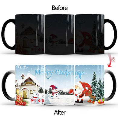 Temperature Mug For Christmas Magic Mug  Color Changing Mugs Heat Sensitive Cup Coffee Tea Milk Mug Novelty Gifts For Kids