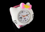 Add fun to your outfit with this Hello Kitty slap watch. Hello Kitty can tell the time. Perfect for little ones with big imaginations.  Battery Included Size: 8 Inches Slap Watch