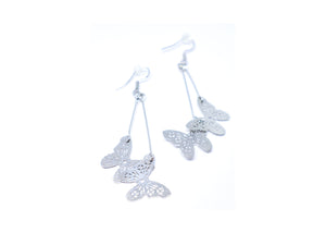 Double Butterfly Droop Earrings