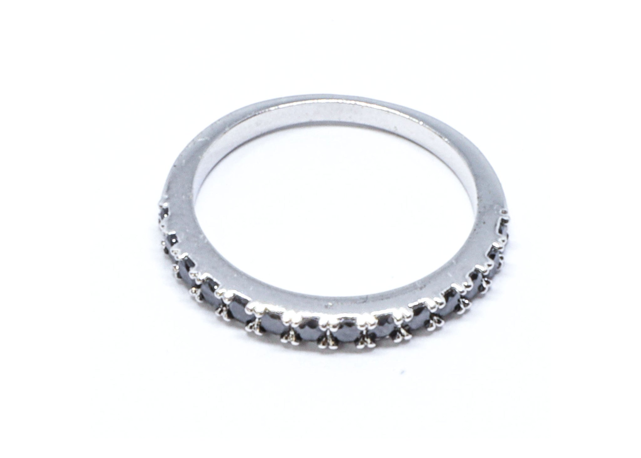 Black Studded Wedding Ring