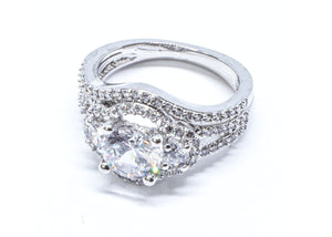 2 Pcs/set Classic Cubic Zirconia Womens Ring