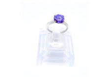 Purple wedding style ring