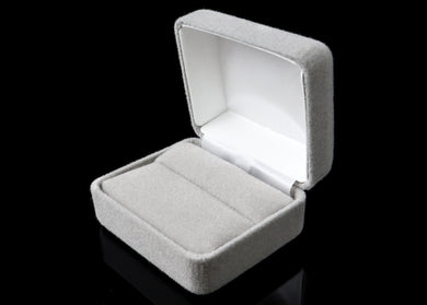 Gray Velvet Ring Box