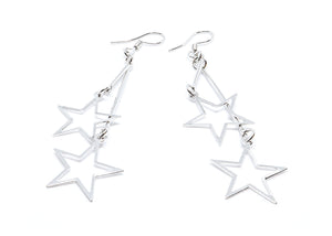 Double Stars Droop Earrings
