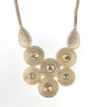 Gold Necklace with Gem Design