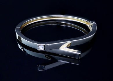 Silver-Color Bangle Bracelet