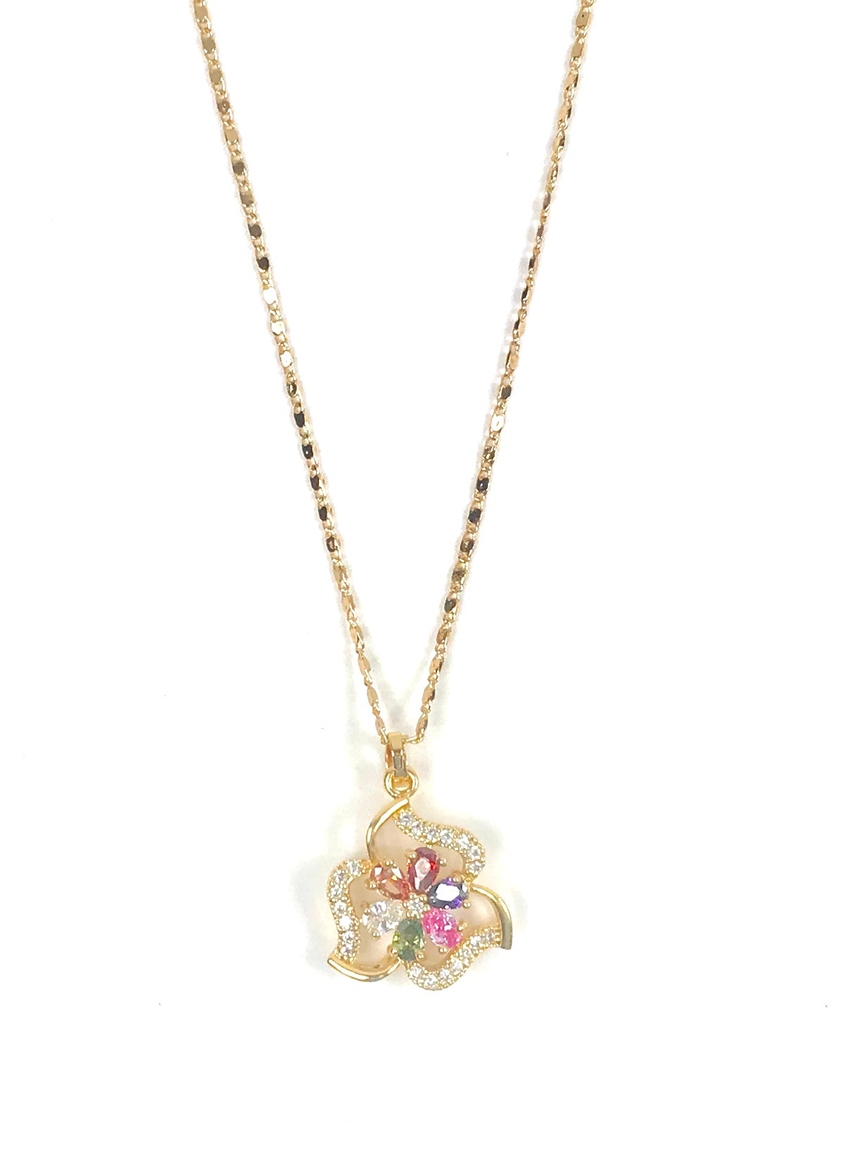Colorful Flower shaped Necklace